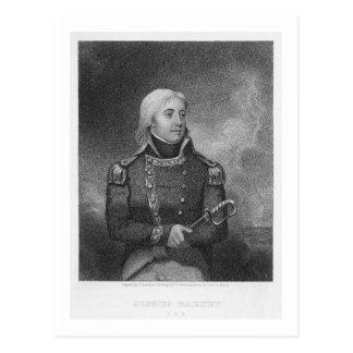Joshua Barney (1759-1818), engraved by J. Gross af Postcard