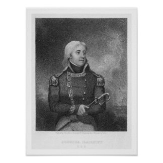 Joshua Barney (1759-1818), engraved by J. Gross af Poster