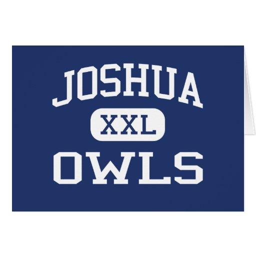 Joshua - búhos - High School secundaria de Joshua  Felicitaciones