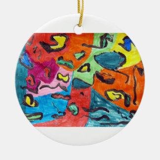 Joshua Churchill Double-Sided Ceramic Round Christmas Ornament