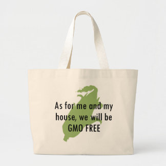 Joshua GMO LIBERA el tote Bolsa Tela Grande