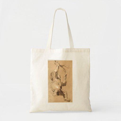 Joshua Reynolds: Bosquejo de Putto que sostiene un Bolsa Tela Barata
