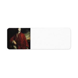 Joshua Reynolds- Charles Lennox, 3rd Duke Return Address Label