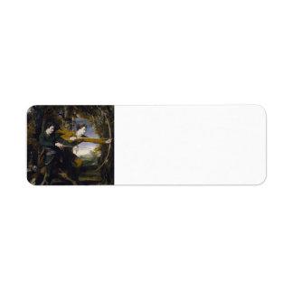 Joshua Reynolds- Colonel Acland and Lord Sydney Return Address Labels