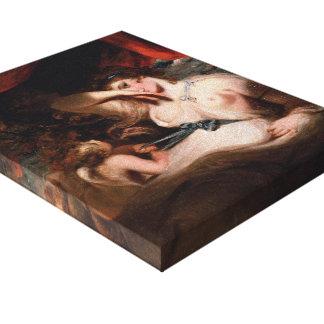 Joshua Reynolds- Cupid Unfastening Girdle of Venus Stretched Canvas Print