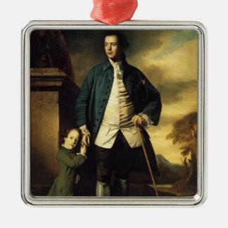 Joshua Reynolds- Edward Morant and His Son John Christmas Ornaments