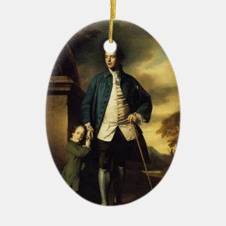 Joshua Reynolds- Edward Morant and His Son John Christmas Ornament