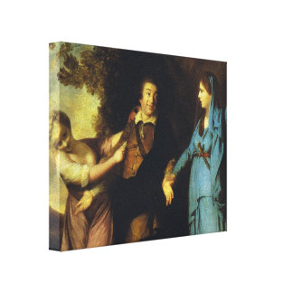 Joshua Reynolds-Garrick Between Tragedy and Comedy Gallery Wrap Canvas