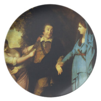 Joshua Reynolds-Garrick Between Tragedy and Comedy Dinner Plates