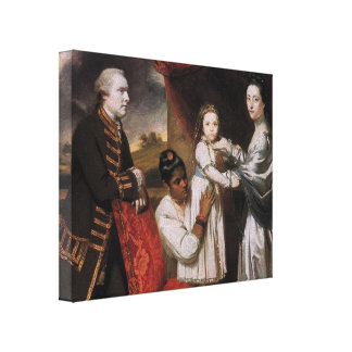 Joshua Reynolds- George Clive and his Family Canvas Print