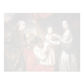 Joshua Reynolds- George Clive and his Family Custom Letterhead