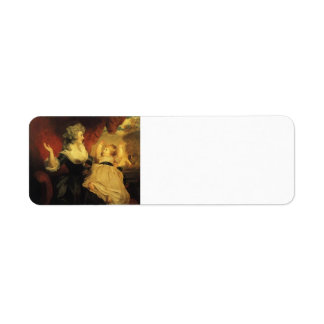 Joshua Reynolds-Georgiana with her Infant Daughter Custom Return Address Labels