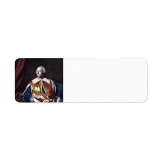 Joshua Reynolds- John Russel, 4th Duke of Bedford Return Address Label
