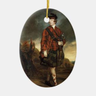 Joshua Reynolds Juan Murray, 4to conde de Dunmore Adorno Ovalado De Cerámica