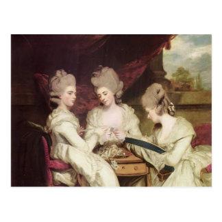 Joshua Reynolds las señoras Waldegrave Tarjeta Postal
