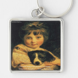 Joshua Reynolds Miss Bowles & Quote Gifts & Cards Keychain