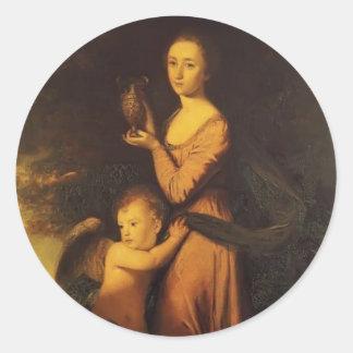 Joshua Reynolds- Mrs. Crewe Classic Round Sticker