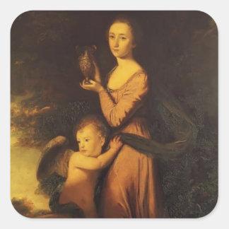Joshua Reynolds- Mrs. Crewe Square Sticker