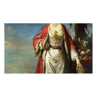 Joshua Reynolds- Mrs. Trecothick Beside an Urn Business Card Templates