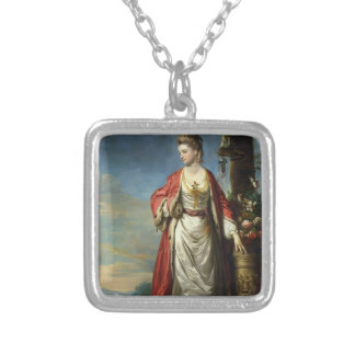 Joshua Reynolds- Mrs. Trecothick Beside an Urn Custom Jewelry