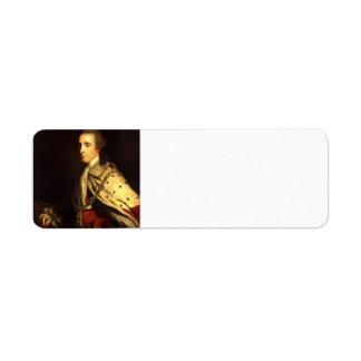 Joshua Reynolds-The 4th Duke of Queensbury as Earl Return Address Label