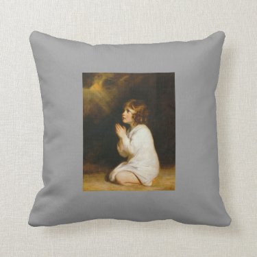 Joshua Reynolds- The Infant Samuel Throw Pillow