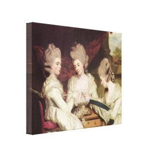 Joshua Reynolds- The Ladies Waldegrave Canvas Prints
