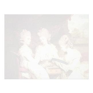 Joshua Reynolds- The Ladies Waldegrave Customized Letterhead