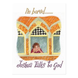 Joshua Talks to God - I'm Bored Postcard