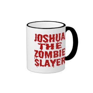 Joshua The Zombie Slayer Ringer Coffee Mug