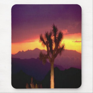 Joshua-tree-and-sunset mousepad