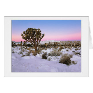 """Joshua Tree In Snow"" Card"