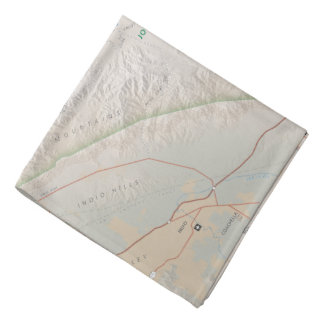 Joshua Tree map bandana