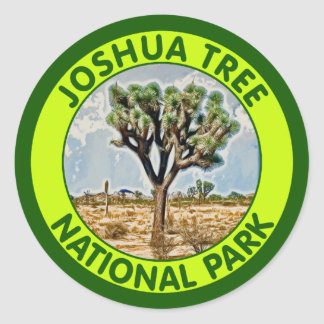 Joshua Tree National Park, California Classic Round Sticker