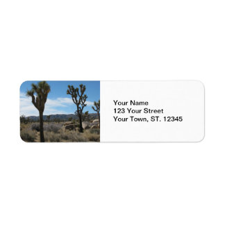 Joshua Tree National Park Label