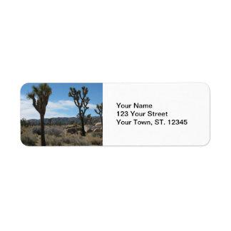 Joshua Tree National Park Return Address Label