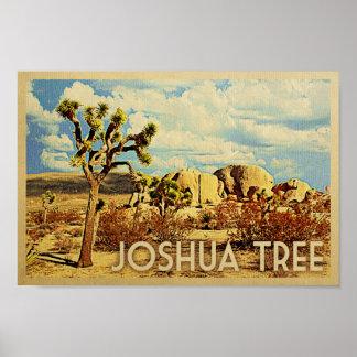 Joshua Tree Poster Vintage Travel National Park