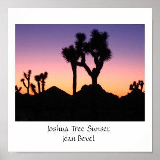 Joshua Tree Sunset-Jean Bevel Poster