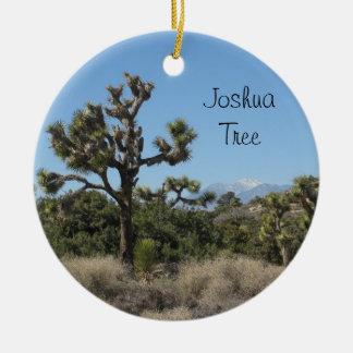 Joshua Tree View Double-Sided Ceramic Round Christmas Ornament