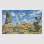 Joshua Trees and Blue Sky Desert Landscape Rectangular Sticker