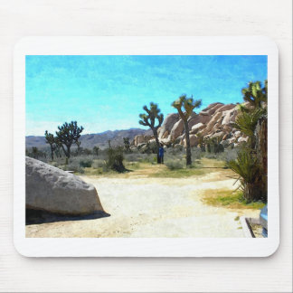 Joshua Trees and Rocks Mouse Pad