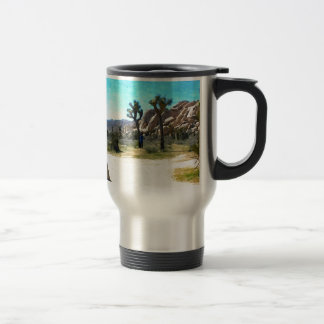 Joshua Trees and Rocks 15 Oz Stainless Steel Travel Mug