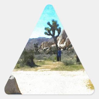 Joshua Trees and Rocks Triangle Sticker
