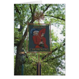 Josiah Chowning Tavern Card