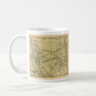 Josiah Gregg's 1844 Map of the Indian Territory Coffee Mug
