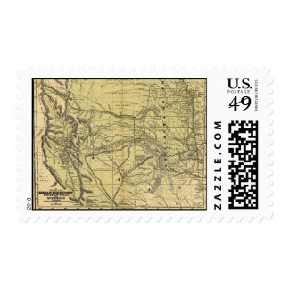 Josiah Gregg's 1844 Map of the Indian Territory Postage