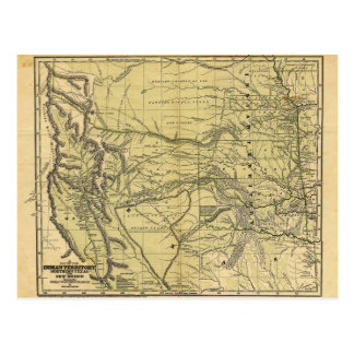 Josiah Gregg's 1844 Map of the Indian Territory Postcard
