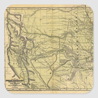 Josiah Gregg's 1844 Map of the Indian Territory Square Sticker