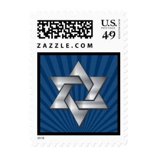 Josiah Jewish Star Silver Bar Mitzvah Stamp