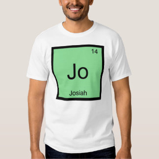 Josiah  Name Chemistry Element Periodic Table T-Shirt